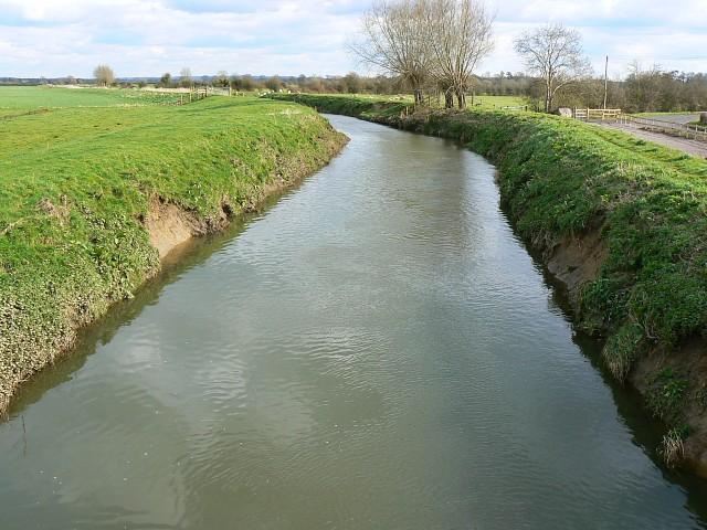 River Brue at Butt Moor Bridge, near Butleigh Wootton