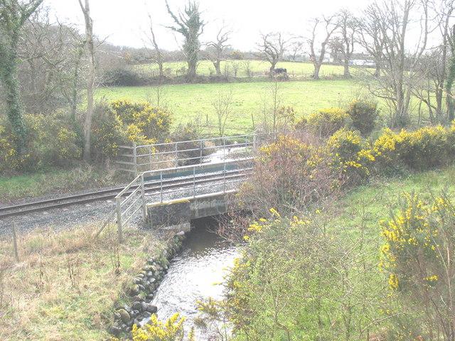 Welsh Highland Railway bridge over Afon Rhyd