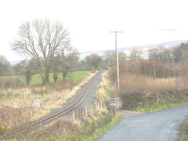 Long straight section of the WHR in the direction of Plas Bodaden