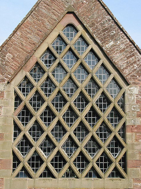 'Jam tart' window detail, St. Edwards, Kempley