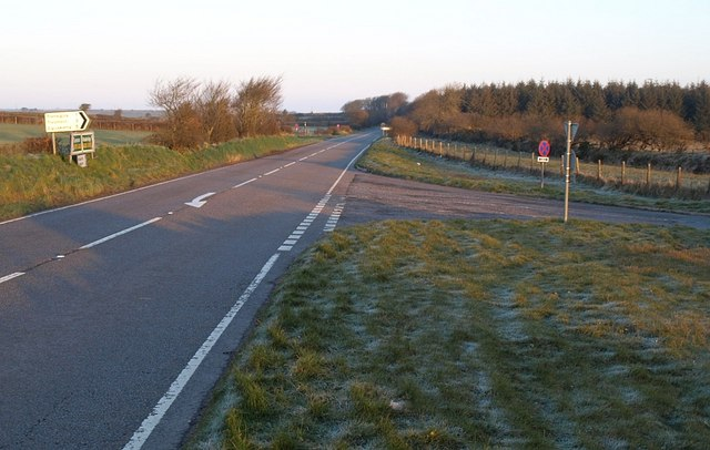Road junction on A395