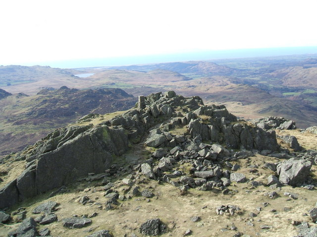 O.S. Pillar from the summit of Harter Fell