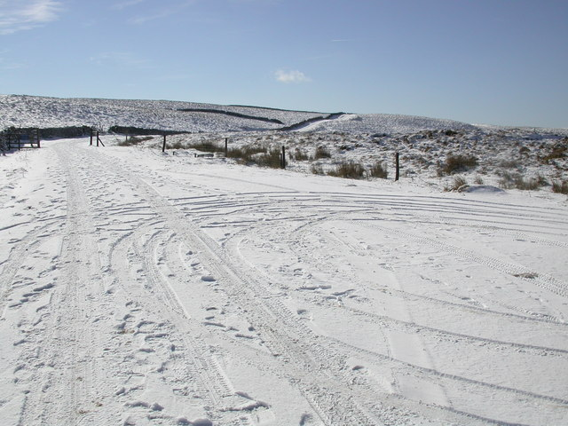 Cam Houses Road in Snow