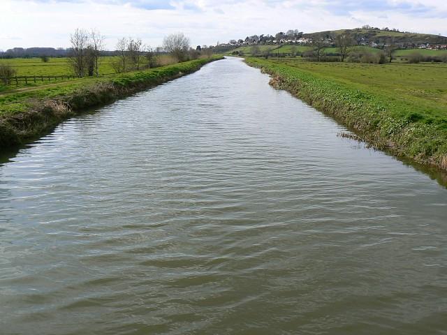 River Brue at Cow Bridge, south of Glastonbury