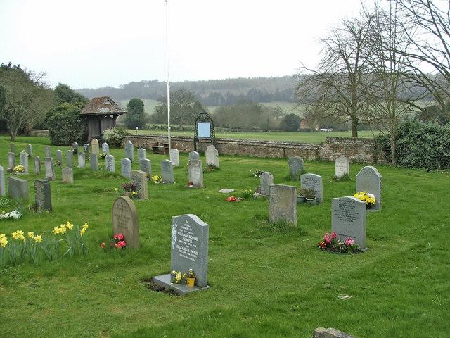 Graveyard, St Botolph's Church, Bradenham, Buckinghamshire