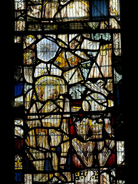 The church of All Saints - stained glass detail