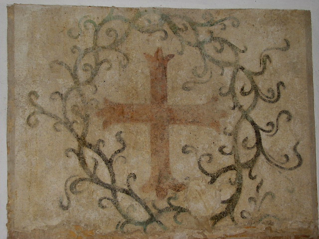 The church of All Saints - consecration cross