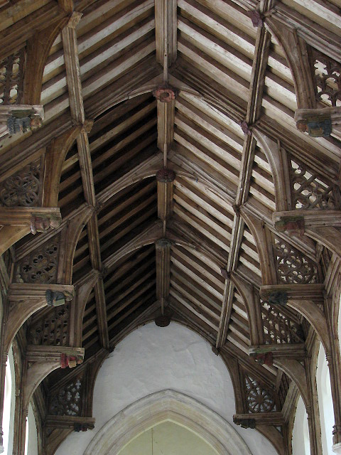 St Botolph's church - C15 angel roof