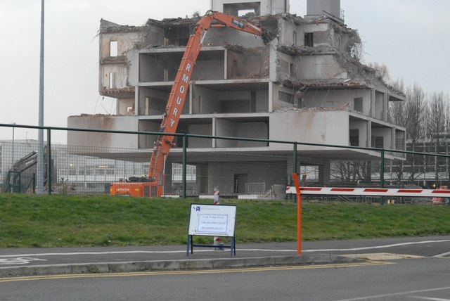 Demolition of a landmark building