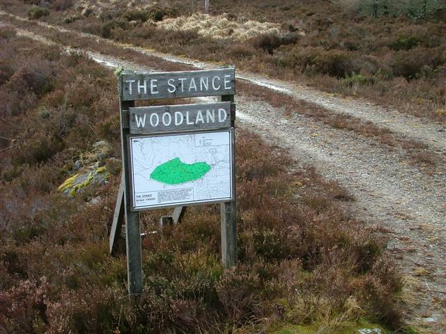 Signpost for The Stance Woodland