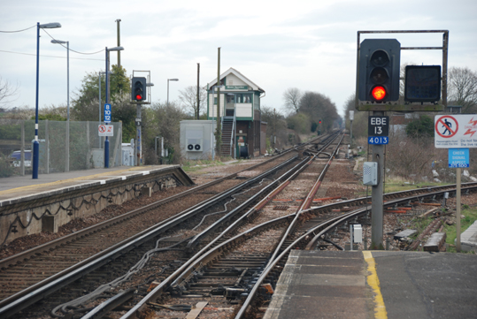 Railway line to Ramsgate from Minster Station, Thanet