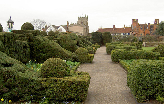 Topiary in New Place Gardens