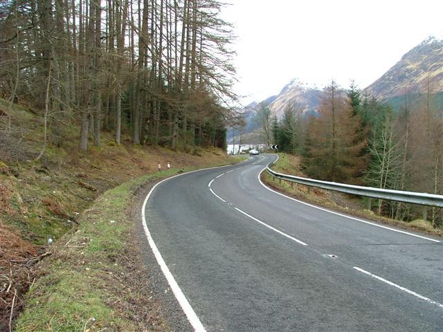 The A82 at South Laggan