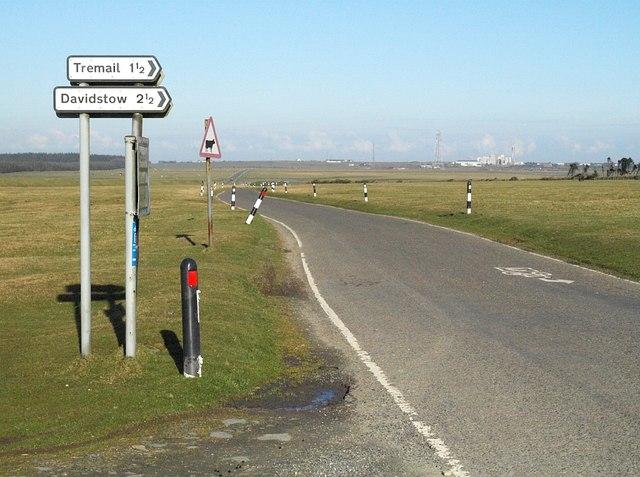 Road across Davidstow Moor
