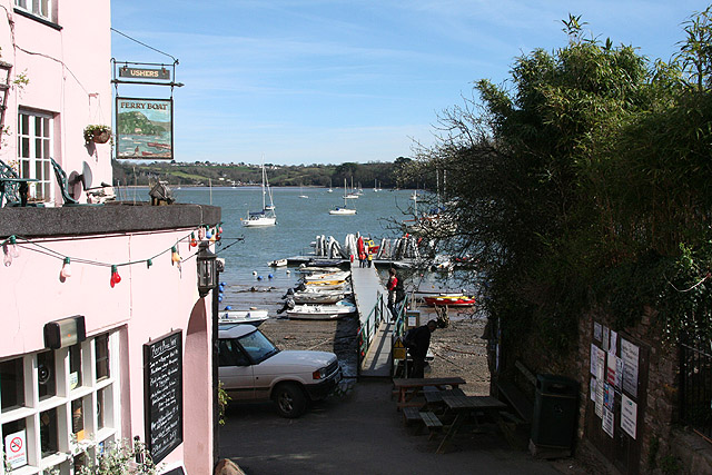 Dittisham: by the Ferry Boat inn