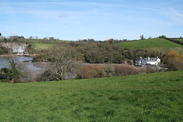 Kingswear: towards Galmpton Creek