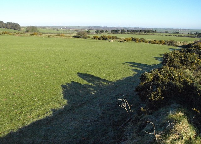 Field beside the lane to Trewinnow