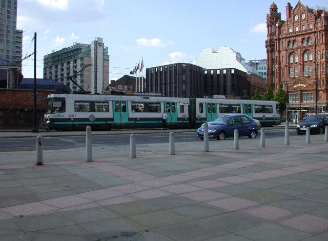 Tram 2001 approaching G-Mex