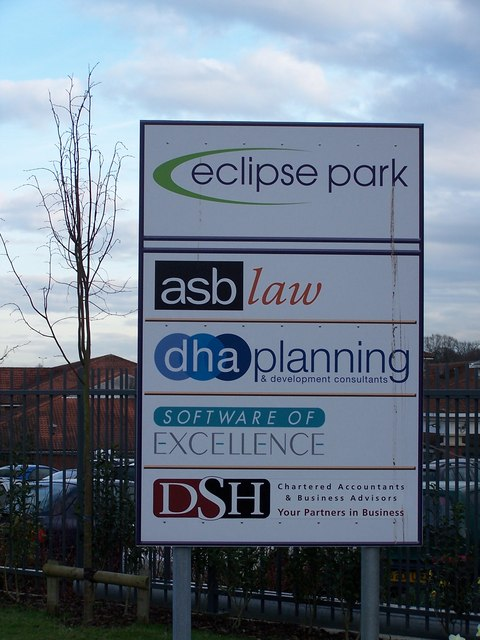 Eclipse Park, Maidstone - sign