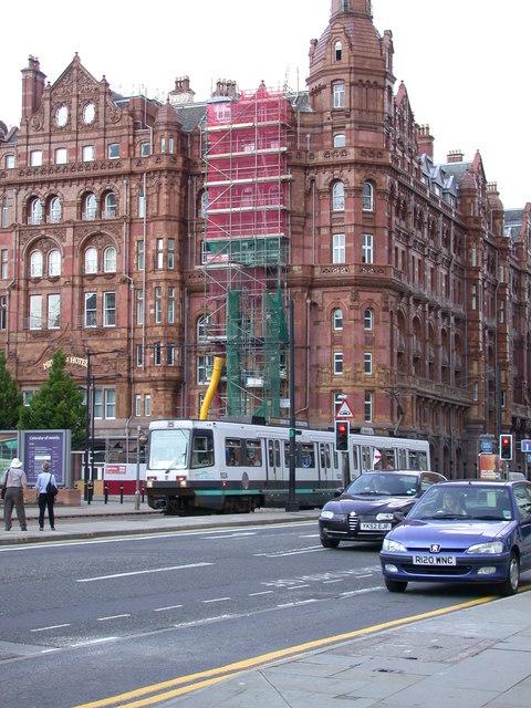 Tram 1024 passing Midland Hotel