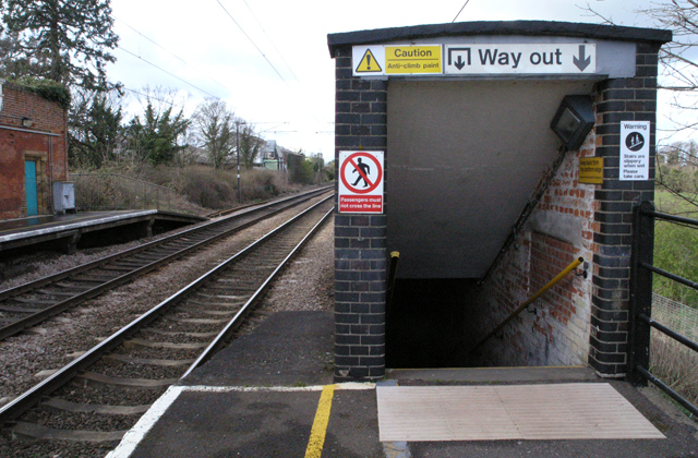 Needham Market station, underpass entrance