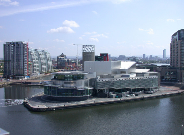 The Lowry seen from Imperial War Museum