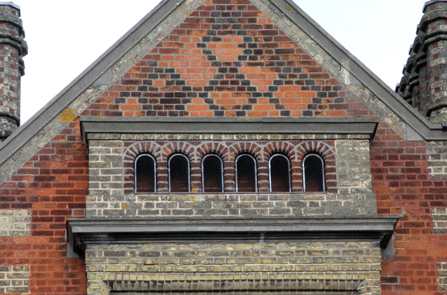 Needham Market station, Gable Detail