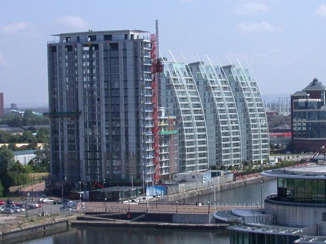 Salford Quays Flats seen from Imperial War Museum