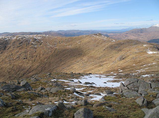 Northwest ridge, Fuar Bheinn