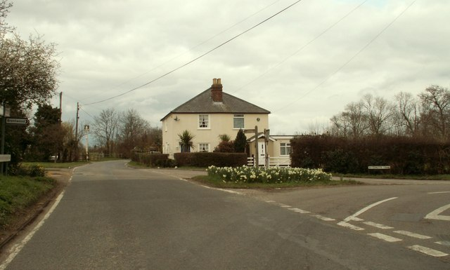 Road junction at South Weald Common