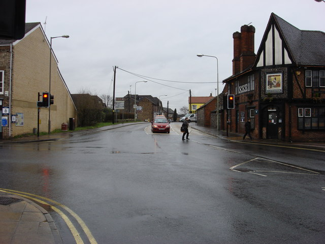 Crossroads on the A1065 at Brandon