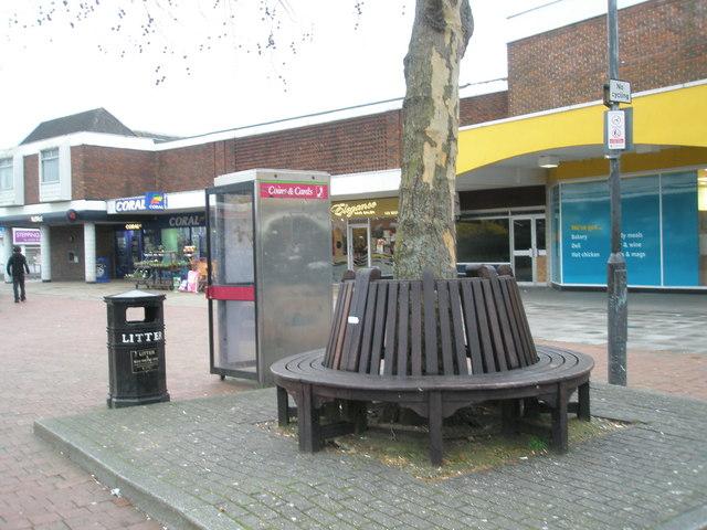 Circular seat in Portchester Precinct