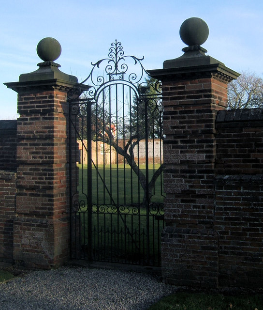 Entrance to walled garden, Hawkhills, Easingwold, Yorkshire