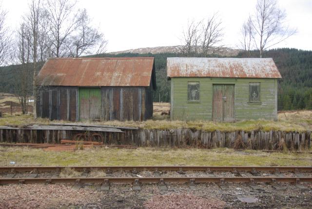Huts at Rannoch Station