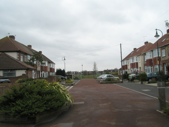 School playing field at the end of Sunningdale Road, Portchester