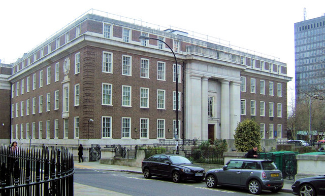 Friends Meeting House, Euston from Endsleigh Gardens, London WC1