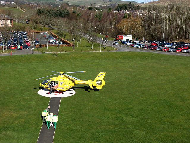 Transferring a patient to a Scottish Ambulance Service helicopter