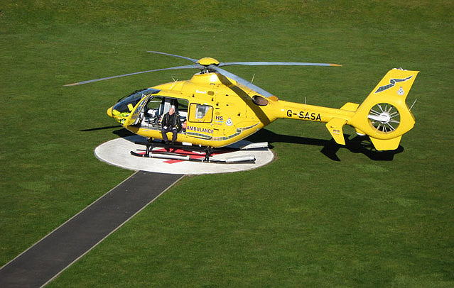 The helicopter-landing pad at Borders General Hospital