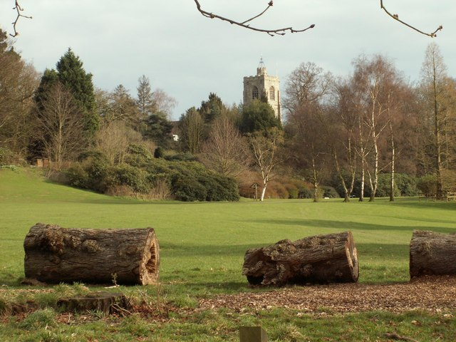 A view of South Weald church from Weald Country Park