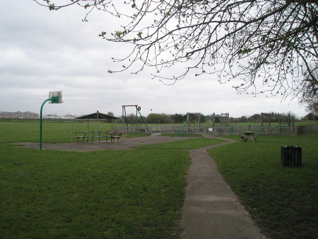 Play area in Portchester Coastal Park