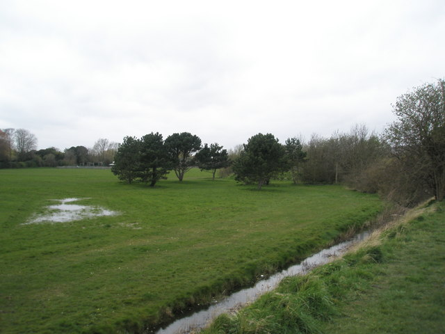 A soggy park at Portchester