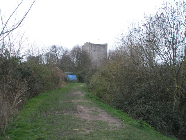 Track to Portchester Castle
