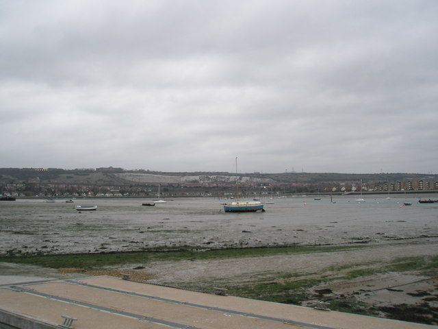 Boats near Portchester Castle