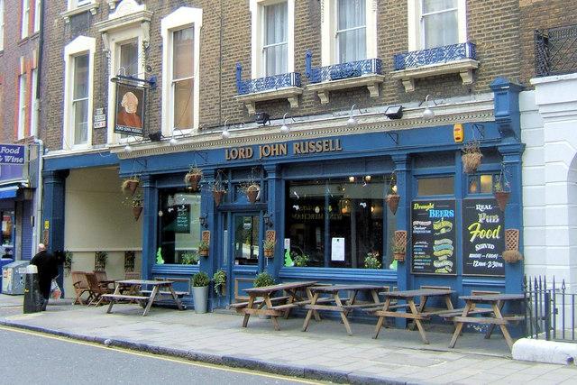 Lord John Russell, Marchmont Street, London WC1