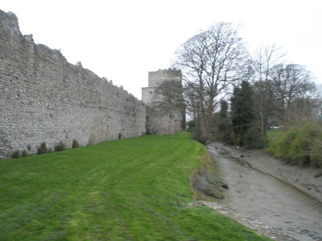 Creek near Assheton's Tower, Portchester Castle