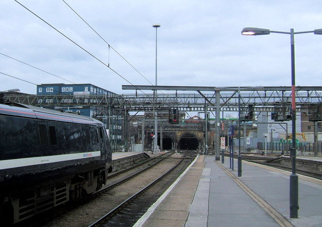 Looking north from Kings Cross Station, London NW1