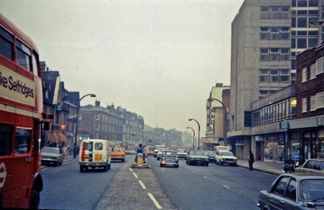 Streatham High Road, November 1978