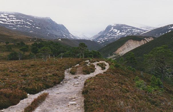 The Lairig Ghru path