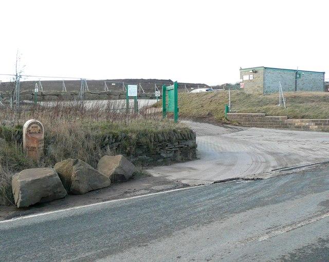Milestone at the quarry entrance, Saddleworth Road, Barkisland