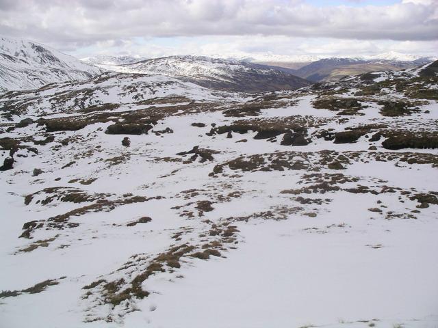 Peat haggs near Meall na Fearna